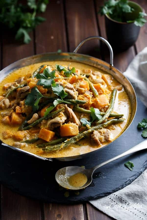 Chicken green bean and butternut squash curry cafe delites chicken and butternut pumpkin korma curry httpscafedelites forumfinder Images