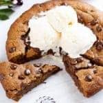 Nutella Stuffed Deep Dish Gingerbread Cookie