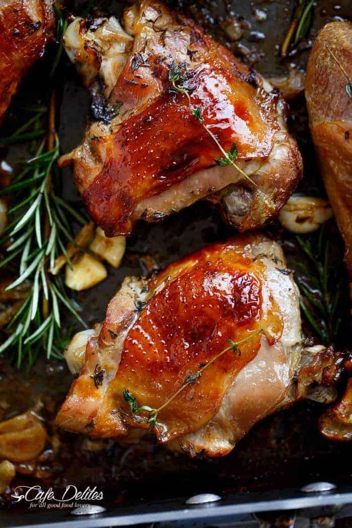 Crispy Beer Roast Turkey | http://cafedleites.com