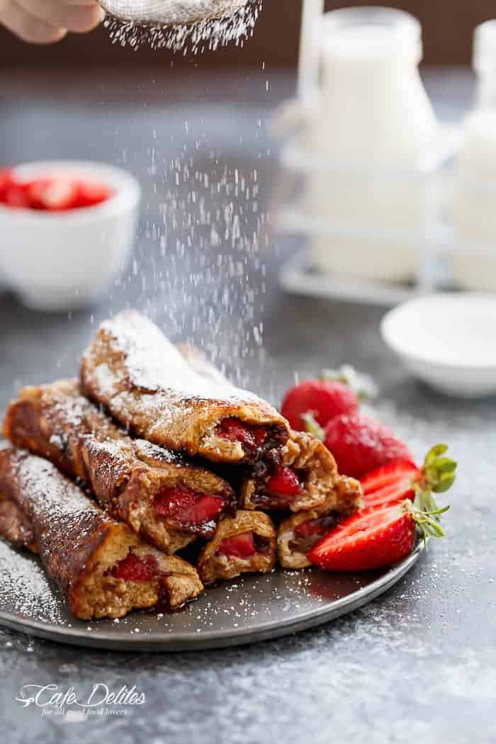 Gingerbread French Toast Roll Ups