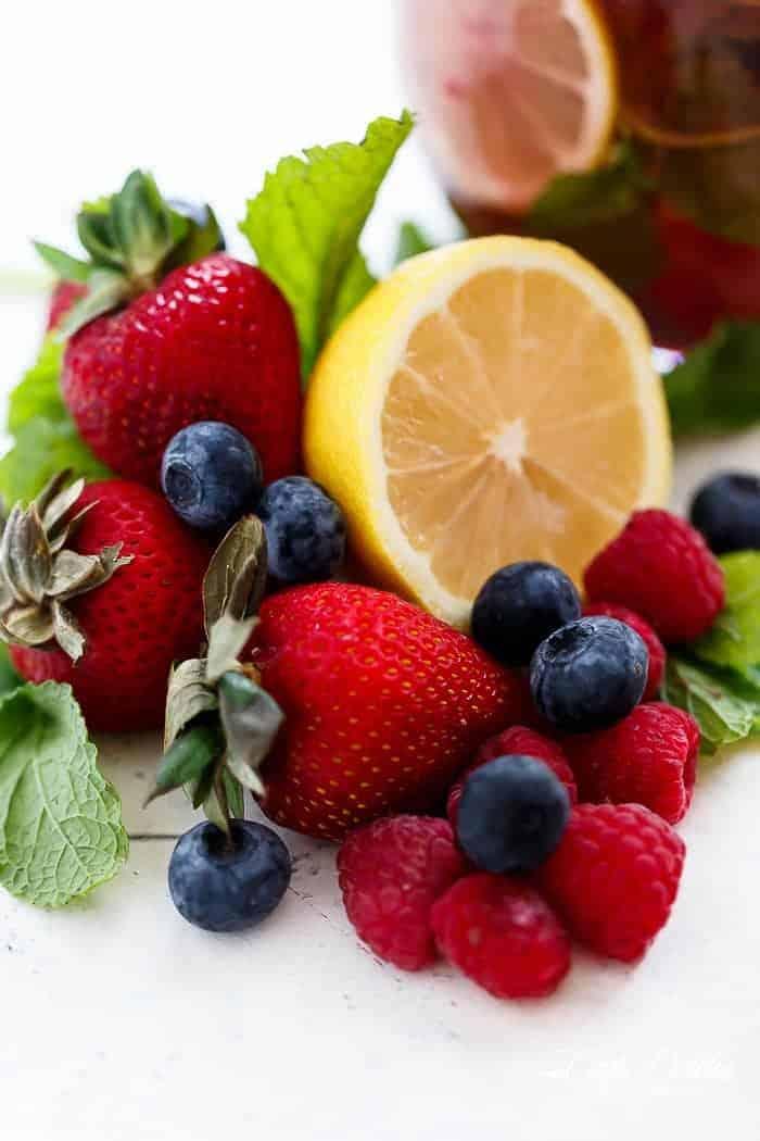 Berry Limoncello Moscato Sangria | https://cafedelites.com