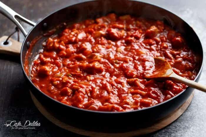 Eggs In Tomato Sauce (Shakshuka) | https://cafedelites.com