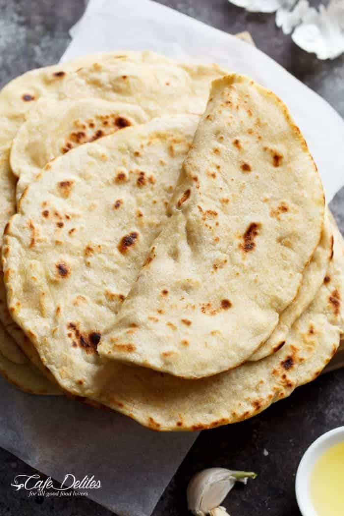 Easy Garlic Flatbread Recipe (No Yeast)
