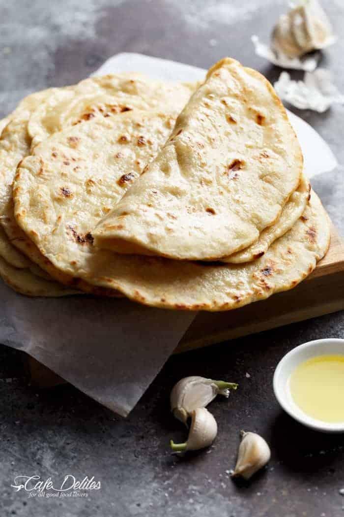 Easy Garlic Flatbread Recipe   https://cafedelites.com