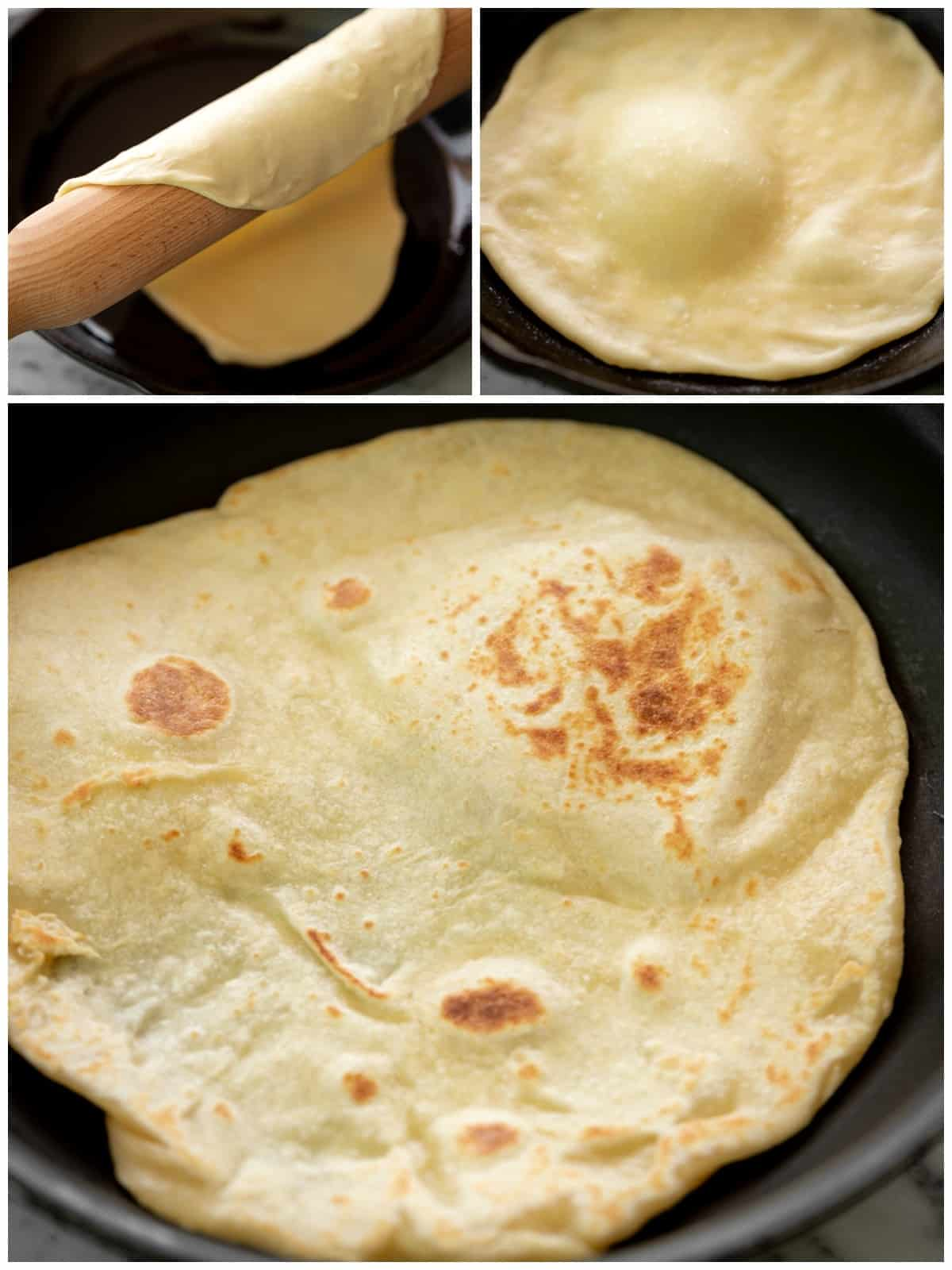 How To Cook Flatbread in a pan Collage