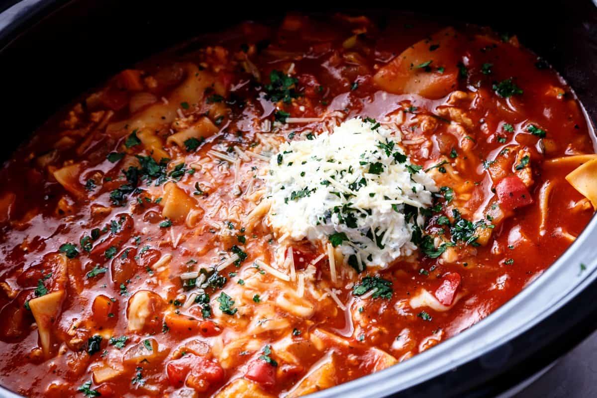 Lasagna Soup | cafedelites.com