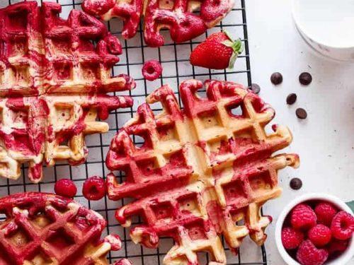 Red Velvet Marble Waffles Video Cafe Delites