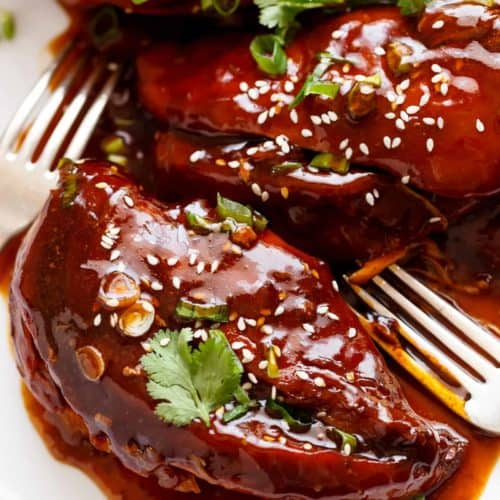 Asian Glazed Chicken Thighs Recipe: Slow Cooker Asian Glazed Chicken