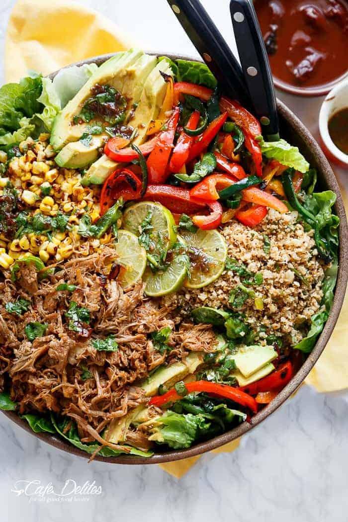 Chipotle Lime Carnitas Salad Cafe Delites
