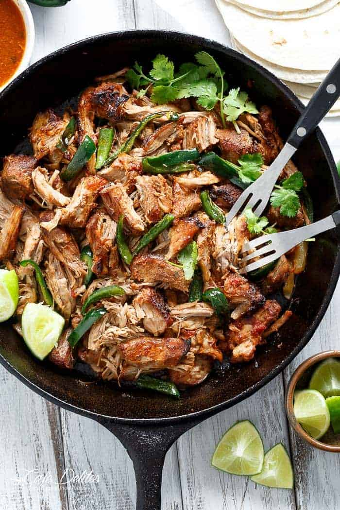 Crispy Slow Cooker Carnitas (Mexican Pulled Pork) - Cafe ...