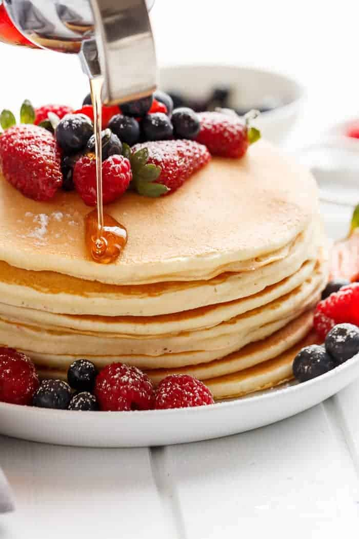 3-Ingredient Pancakes | https://cafedelites.com