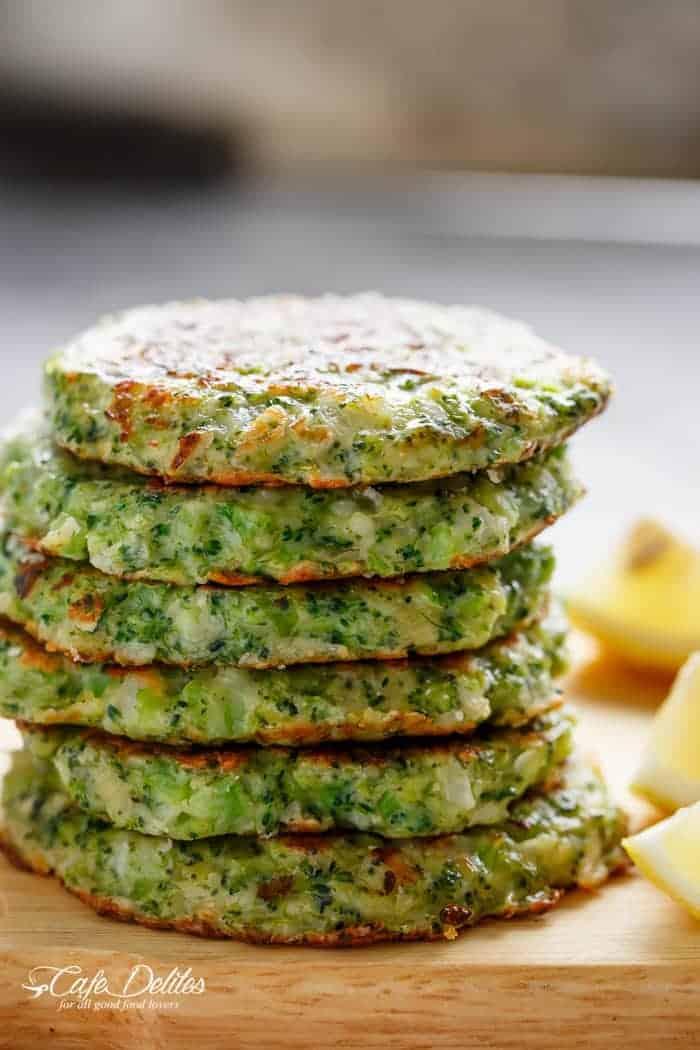 Crispy Broccoli Parmesan Fritters - Cafe Delites