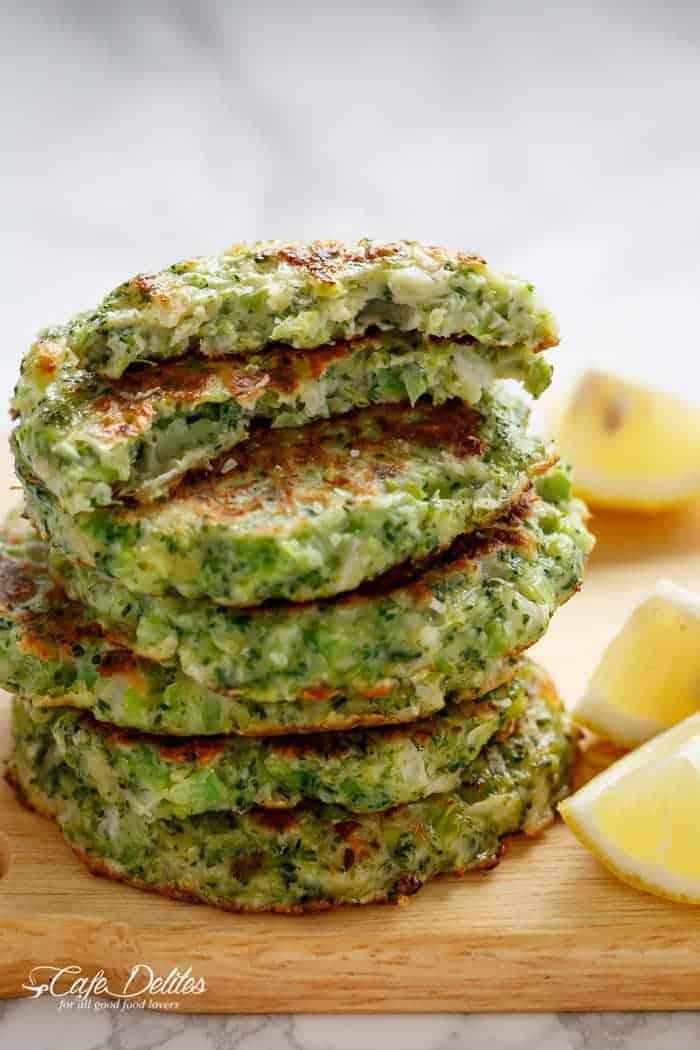 Crispy Broccoli Parmesan Fritters | https://cafedelites.com
