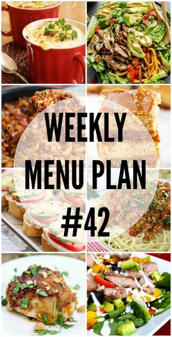 Weekly Menu Plan #42