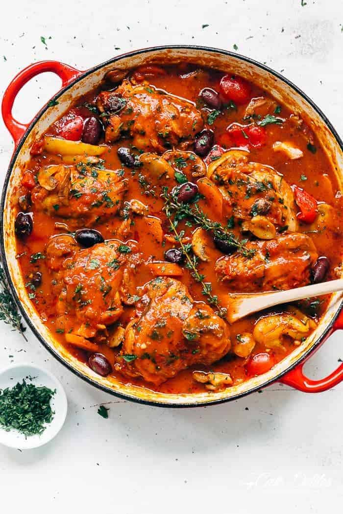 Recipe for chicken cacciatore
