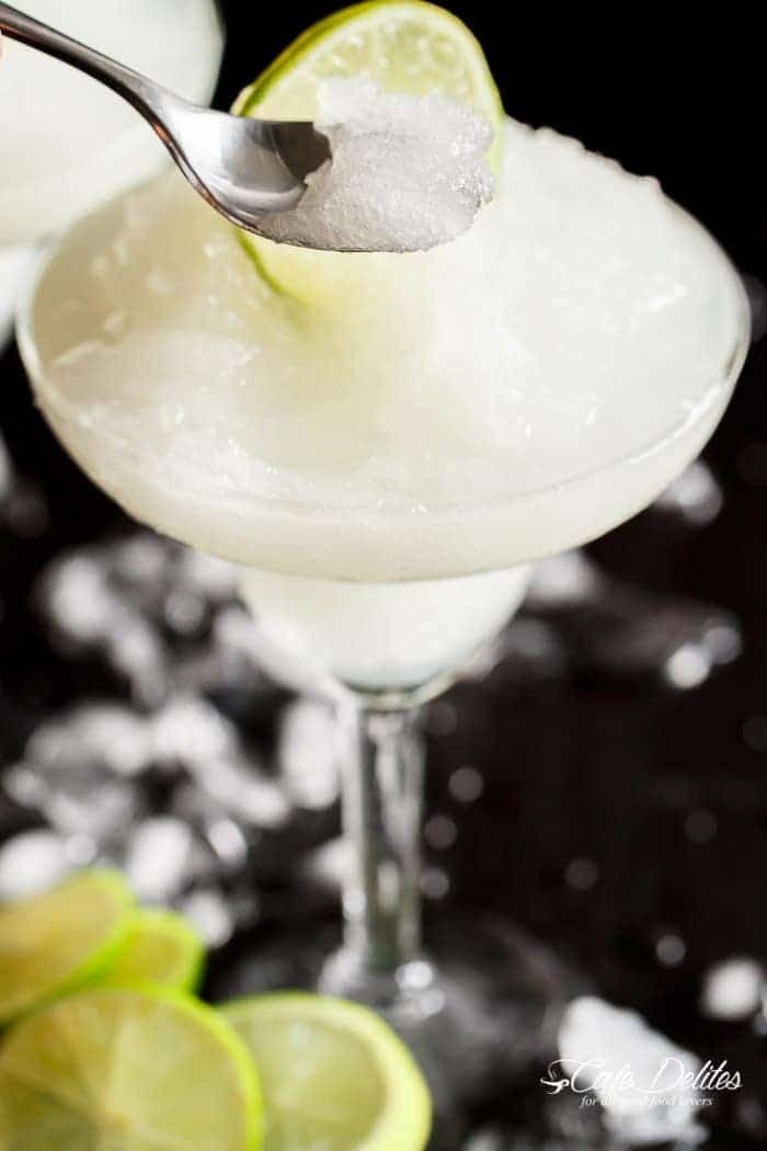 Frozen Margarita Slushy | https://cafedelites.com
