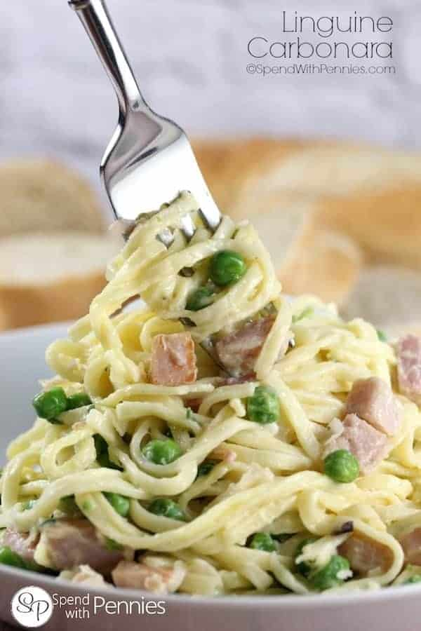 Linguine-Carbonara