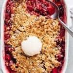 Strawberry Rhubarb Crisp (Crumble)