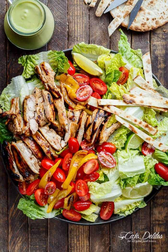 Grilled Tequila Lime Chicken Taco Salad
