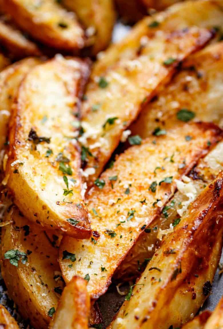 Baked Potato Wedges | cafedelites.com