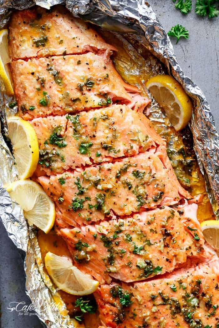Honey Garlic Butter Salmon In Foil Recipe
