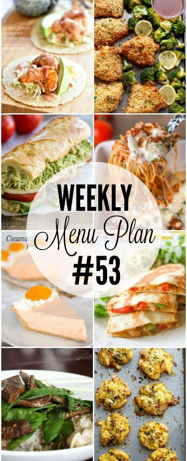 WEEKLY MENU PLAN 53