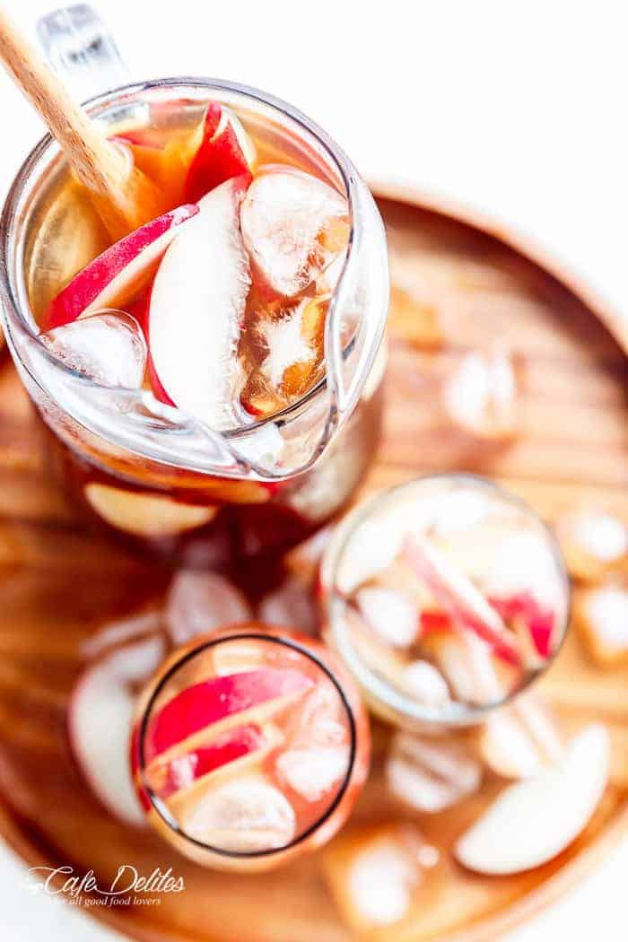 White Peach Ice Tea | https://cafedelites.com