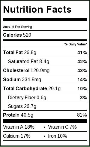 creamy-honey-mustard-chicken-nutritional-label
