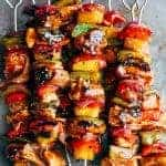 Hawaiian Chicken Bacon Pineapple Kebabs
