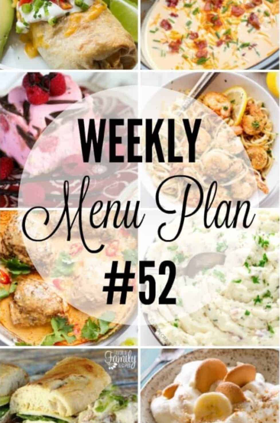 WEEKLY MEAL PLAN 52