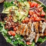 BLT Balsamic Chicken Avocado & Feta Salad