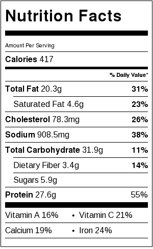 chicken-shawarma-salad-nutritional-label