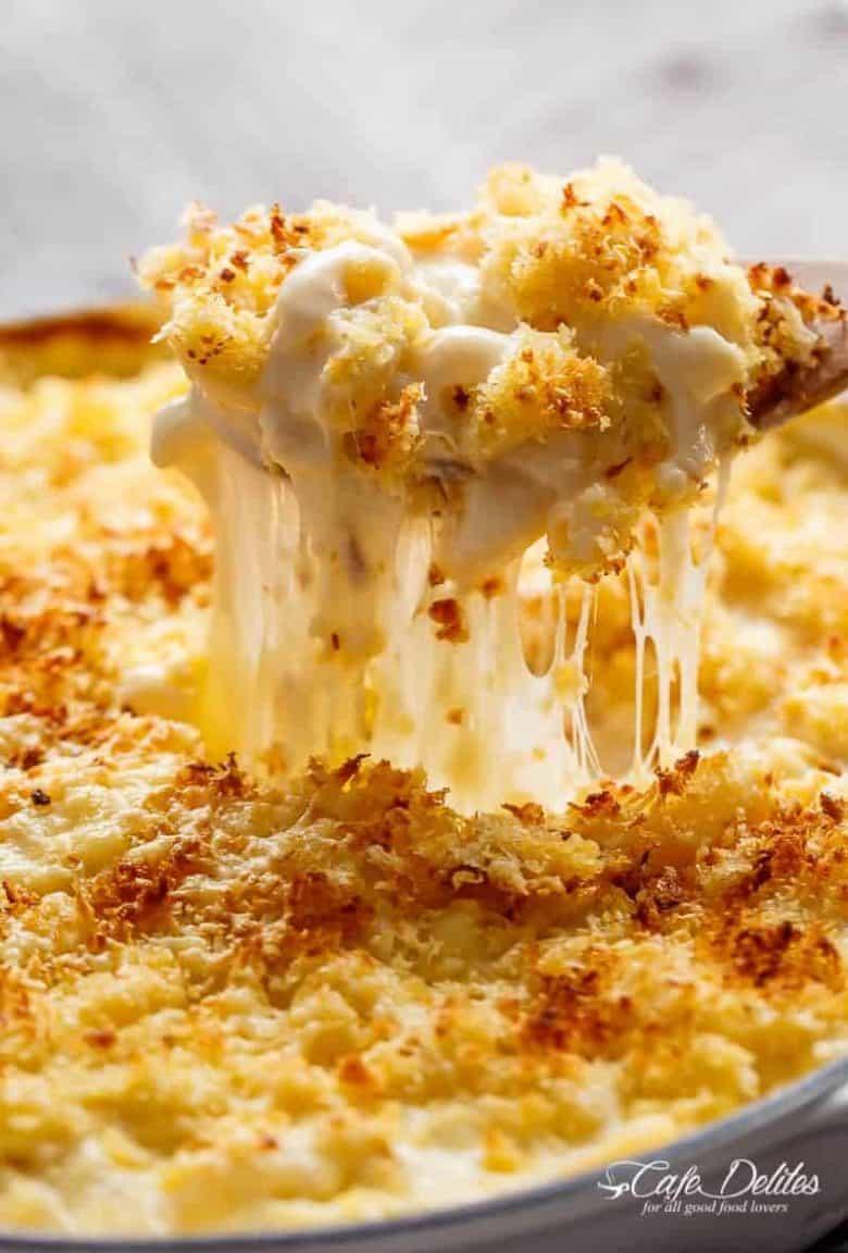 Creamy Garlic Parmesan Mac And Cheese (+ Video)