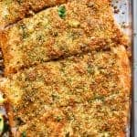 Crispy Garlic Parmesan Salmon Recipe (+ VIDEO)
