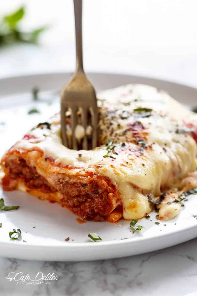 Easy Lasagna Stuffed Burritos