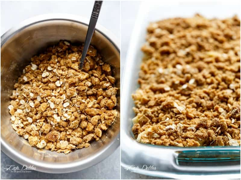 Easy Cinnamon Apple Crisp (Apple Crumble) | https://cafedelites.com