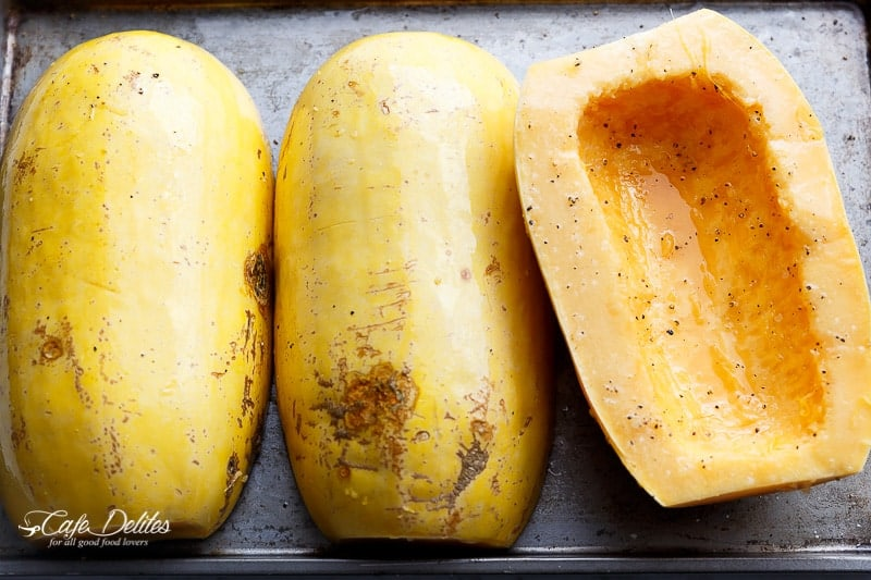 How To Cook Spaghetti Squash | https://cafedelites.com