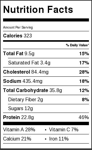 creamy-chicken-noodle-soup-nutritional-label