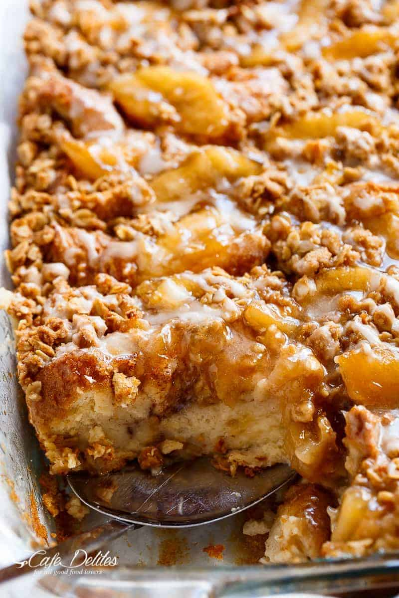 Apple Pie French Toast Bake (Casserole) - Cafe Delites