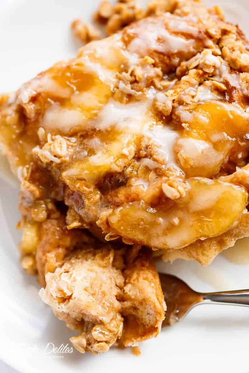 Apple Pie French Toast Bake Casserole Https Cafedelites Com