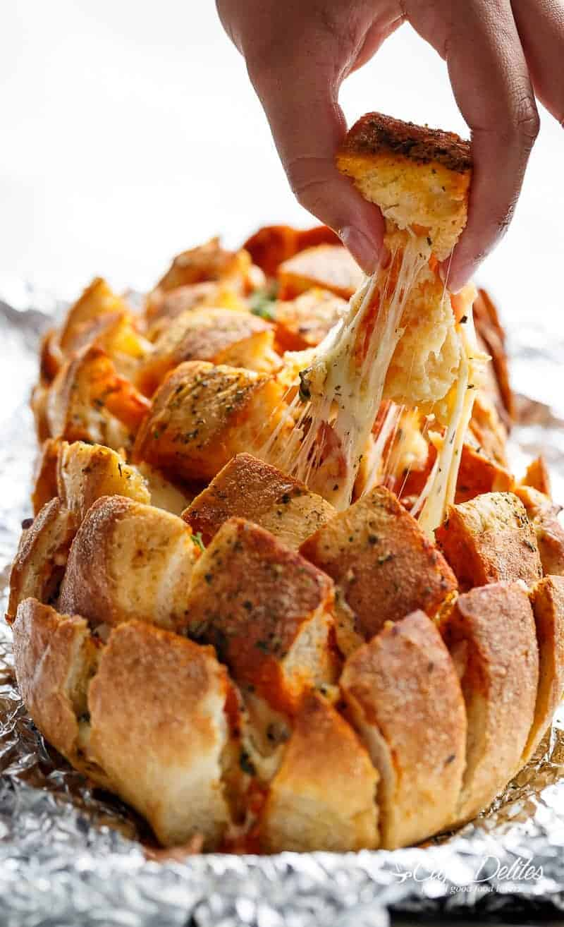 Garlic Butter Pizza Pull Apart Bread