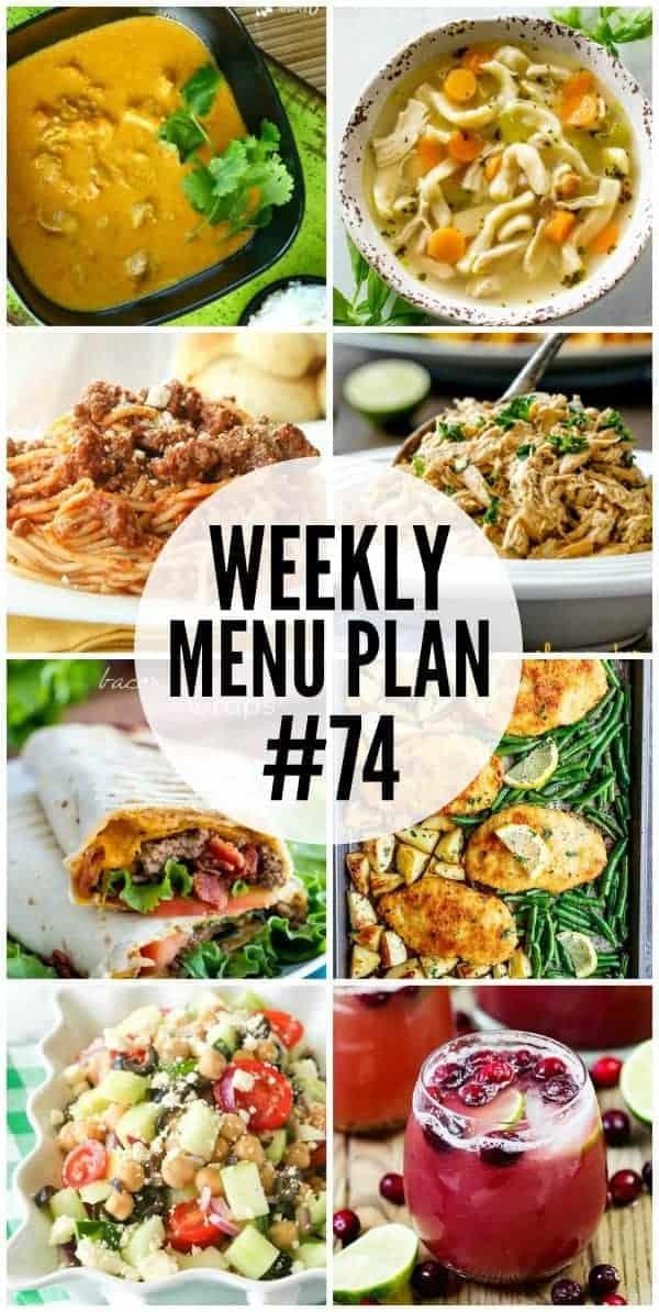 Weekly Menu Plan #74