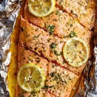 Lemon Butter Garlic Salmon with only a handful of ingredients, with maximum taste and minimal clean up!   https://cafedelites.com