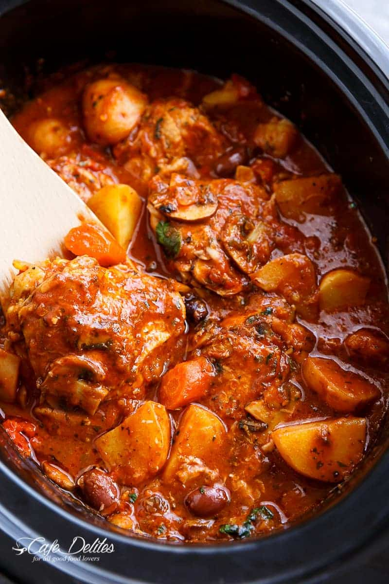 Slow Cooker Chicken Cacciatore With Potatoes