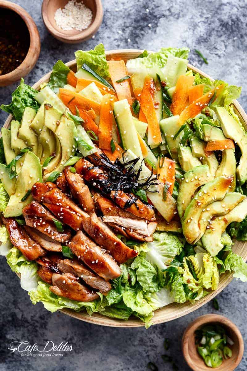 Teriyaki Glazed Chicken Salad