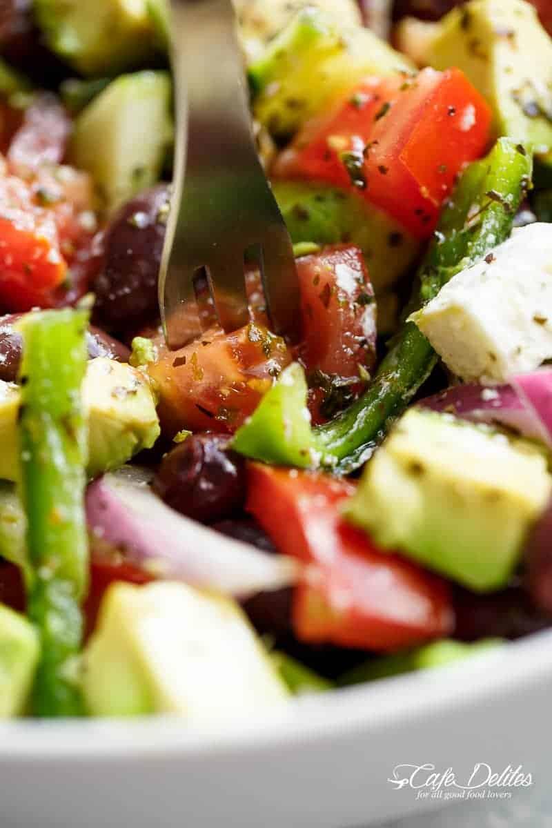 Greek Salad Recipe Cafe Delites