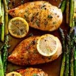 One Pan Honey Lemon Chicken Asparagus
