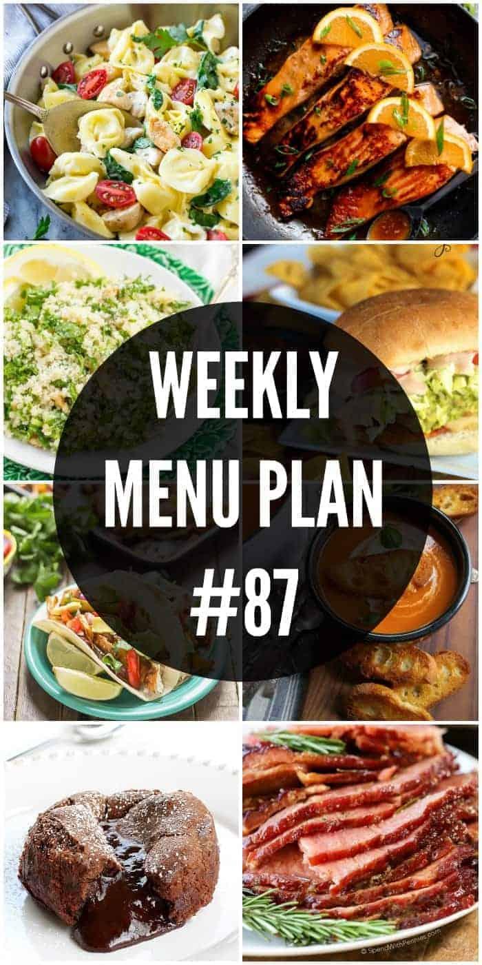 Weekly Menu Plan #87