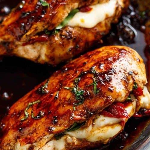 Caprese Stuffed Balsamic Chicken Cafe Delites