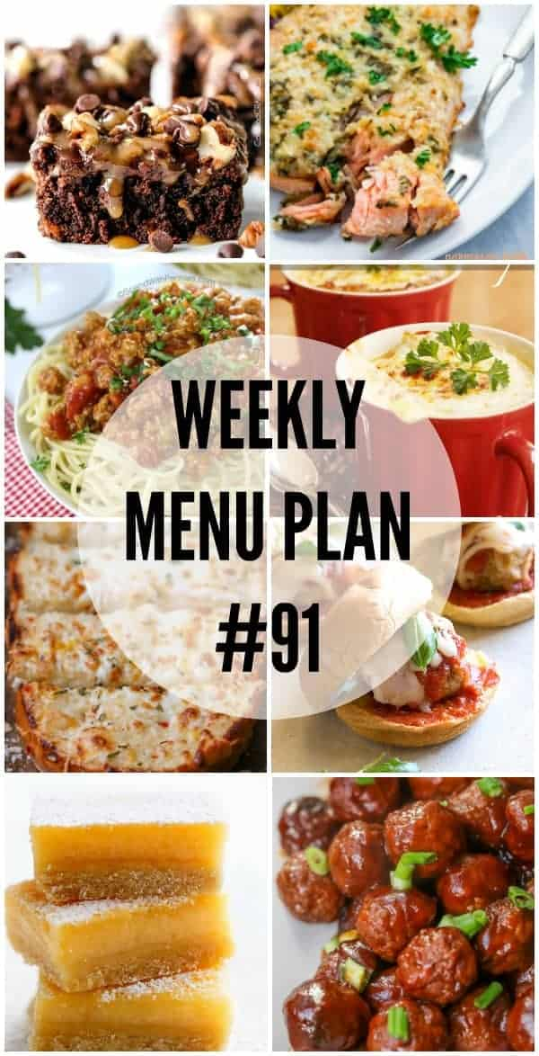 Weekly Menu Plan 91 Collage